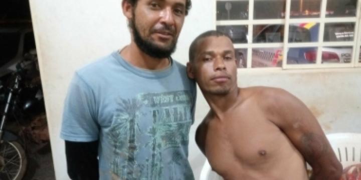 Dois homens são presos pela PM ao tentar matar mãe e filho a tiros em Juína
