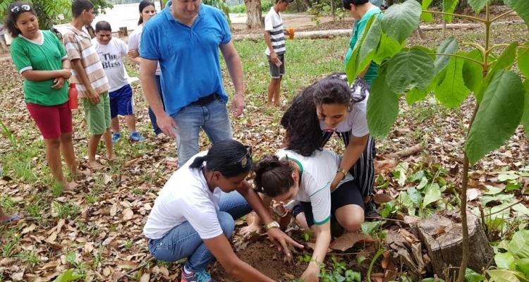 Alunos da APAE fazem plantio de mudas de árvores em Aripuanã