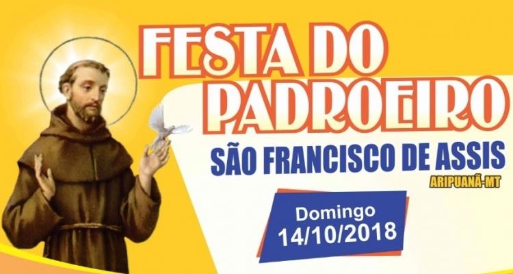 Festa do Padroeiro acontece neste domingo em Aripuanã