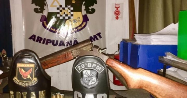 CR VIII: Polícia Militar prende suspeito de comercializar armas de fogo em Aripuanã