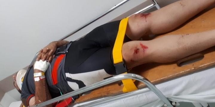 Grupo de ciclista é atacado com pedradas e um deles fica ferido em Rondonópolis