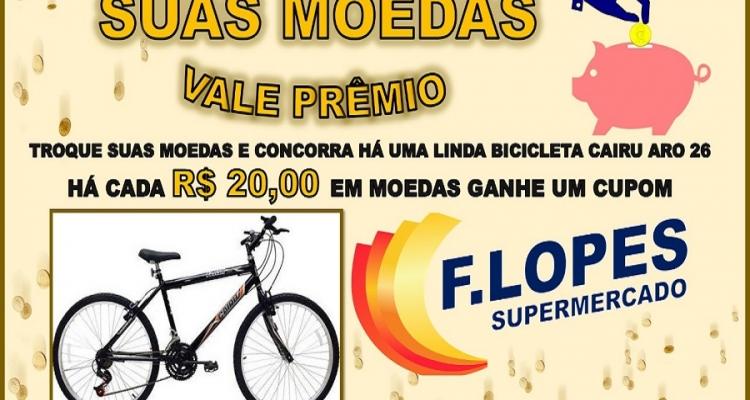 Troque suas moedas e concorra a prêmio no Lopes Supermercado em Aripuanã
