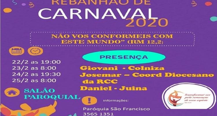 Tudo pronto para os fieis com Rebanhão de Carnaval em Aripuanã