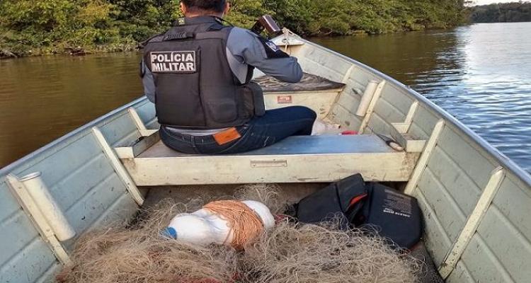 Polícia Militar apreende arma de fogo e material de pesca predatória em Aripuanã