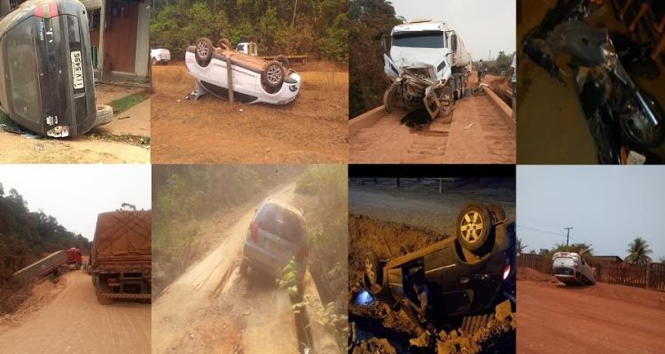 Vários acidentes foram registrados durante fim de semana em Aripuanã