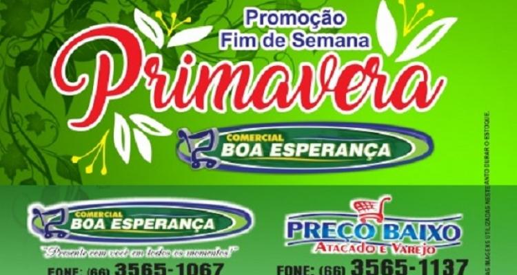 Comercial Boa Esperança lança promoção *Primavera* em Aripuanã