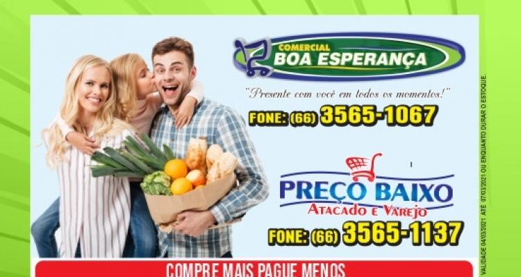 Comercial Boa Esperança tem Ofertas para fim de semana em Aripuanã