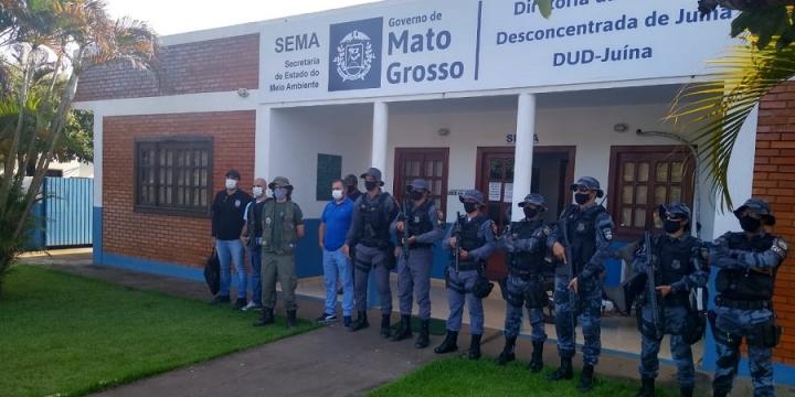Forças de segurança, SEMA e Batalhão Ambiental fazem operação no Garimpo ilegal em Castanheira