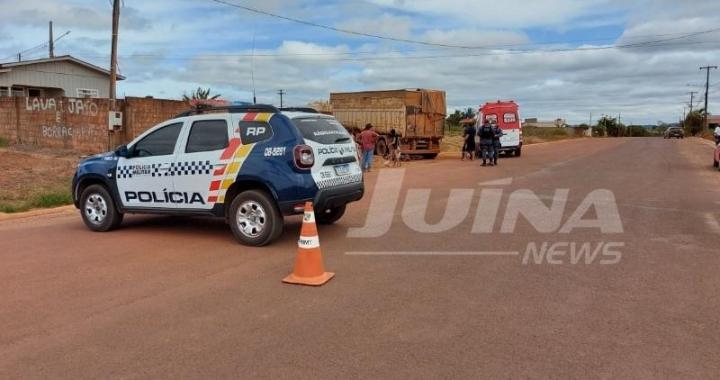 Motociclista sofre várias fraturas em grave acidente com carreta em Juína