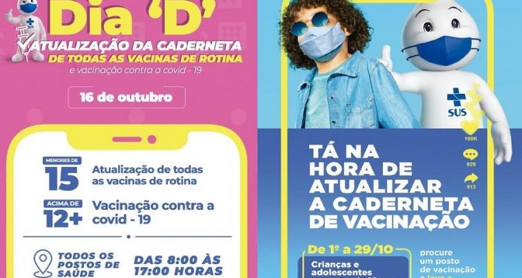 """Secretaria de Saúde vai promover Dia """"D"""" para Atualização de Todas as Vacinas de Rotina"""